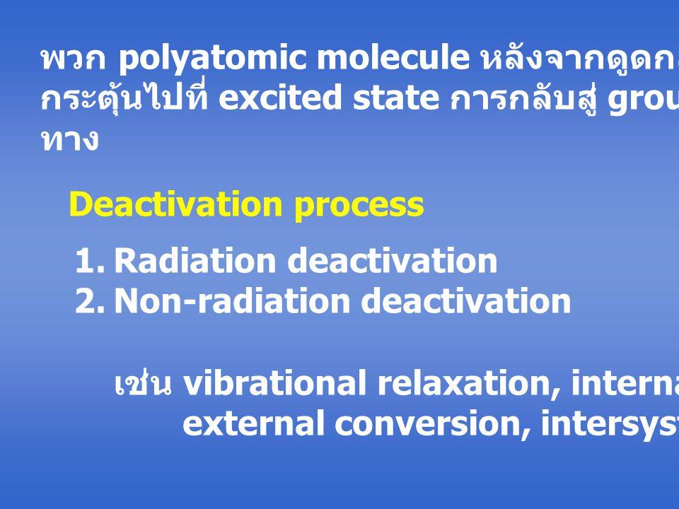 พวก polyatomic molecule หลังจากดูดกลืนแสงแล้วถูก