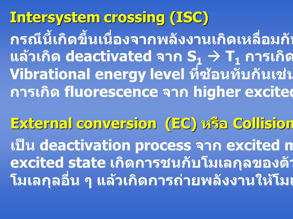Intersystem crossing (ISC)