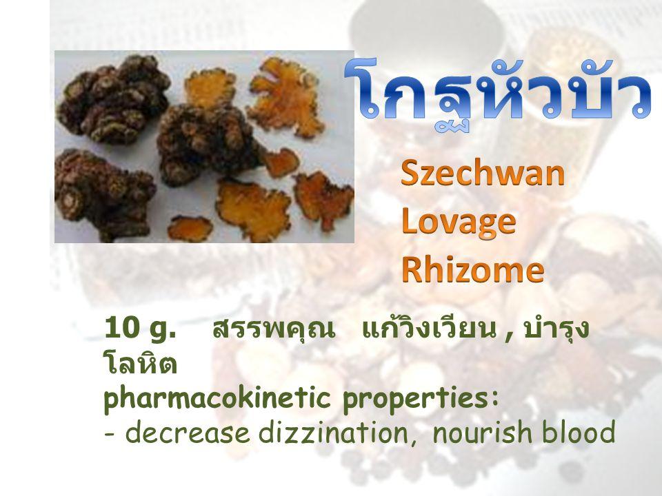 โกฐหัวบัว Szechwan Lovage Rhizome