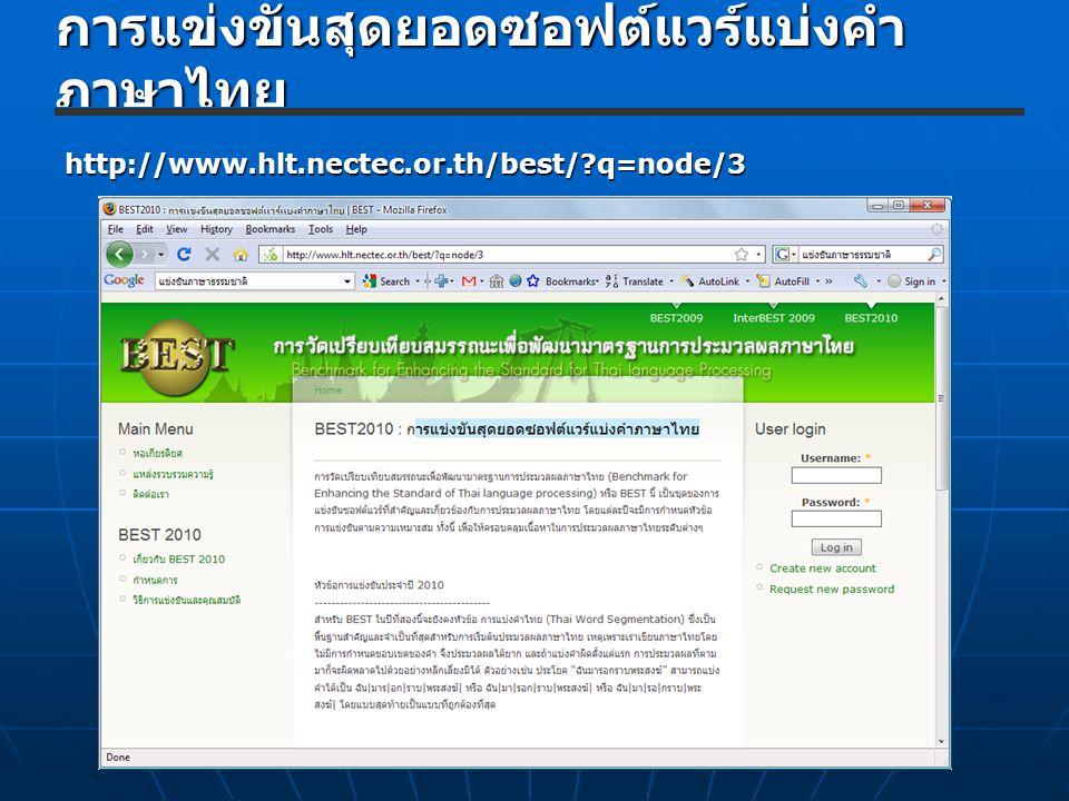 การแข่งขันสุดยอดซอฟต์แวร์แบ่งคำภาษาไทย