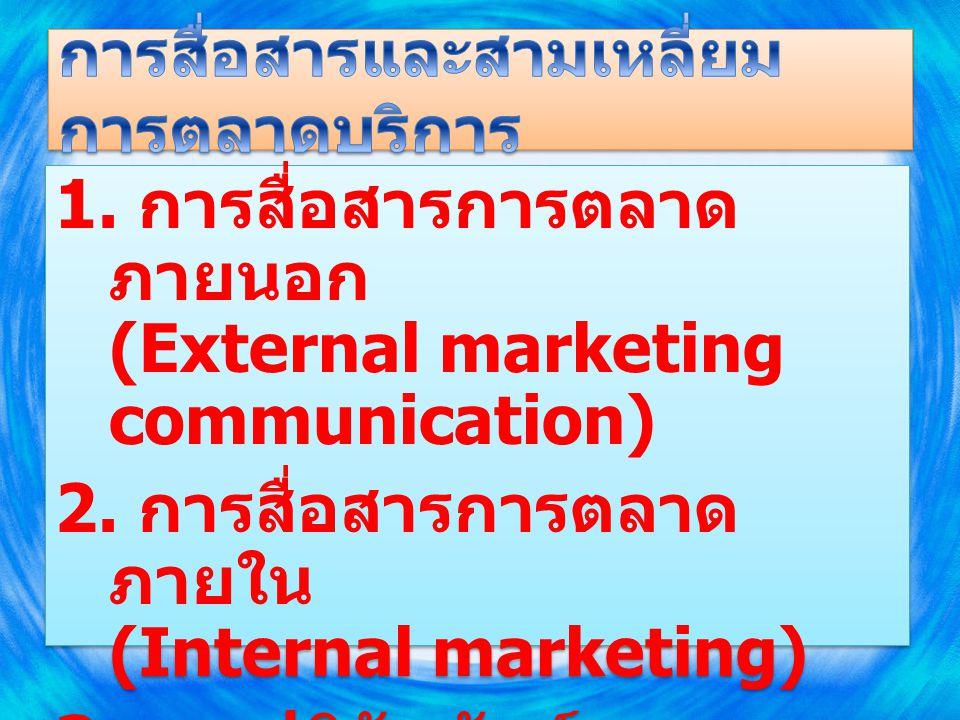 การสื่อสารและสามเหลี่ยมการตลาดบริการ