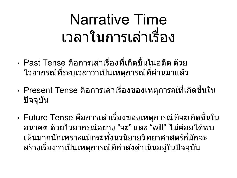 Narrative Time เวลาในการเล่าเรื่อง