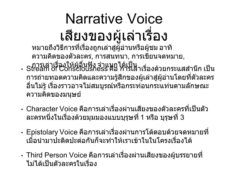 Narrative Voice เสียงของผู้เล่าเรื่อง