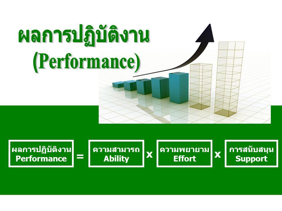 ผลการปฏิบัติงาน (Performance)