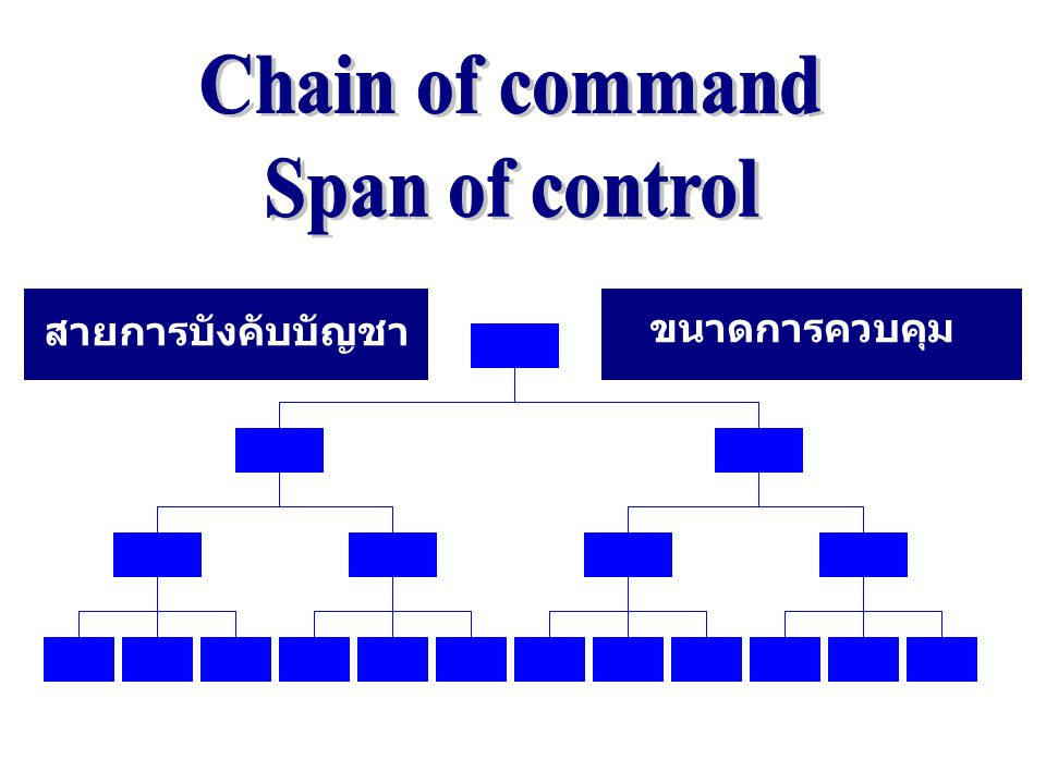 Chain of command Span of control