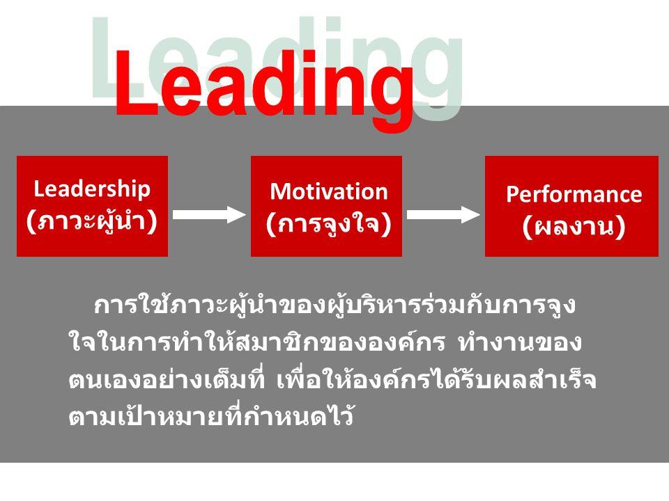 Leadership (ภาวะผู้นำ)