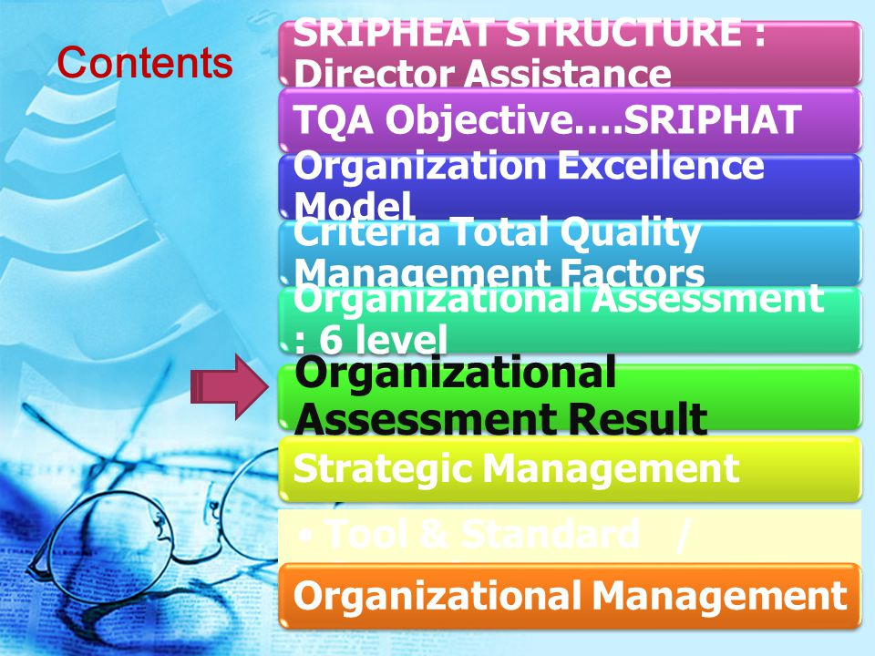 Organizational Assessment Result
