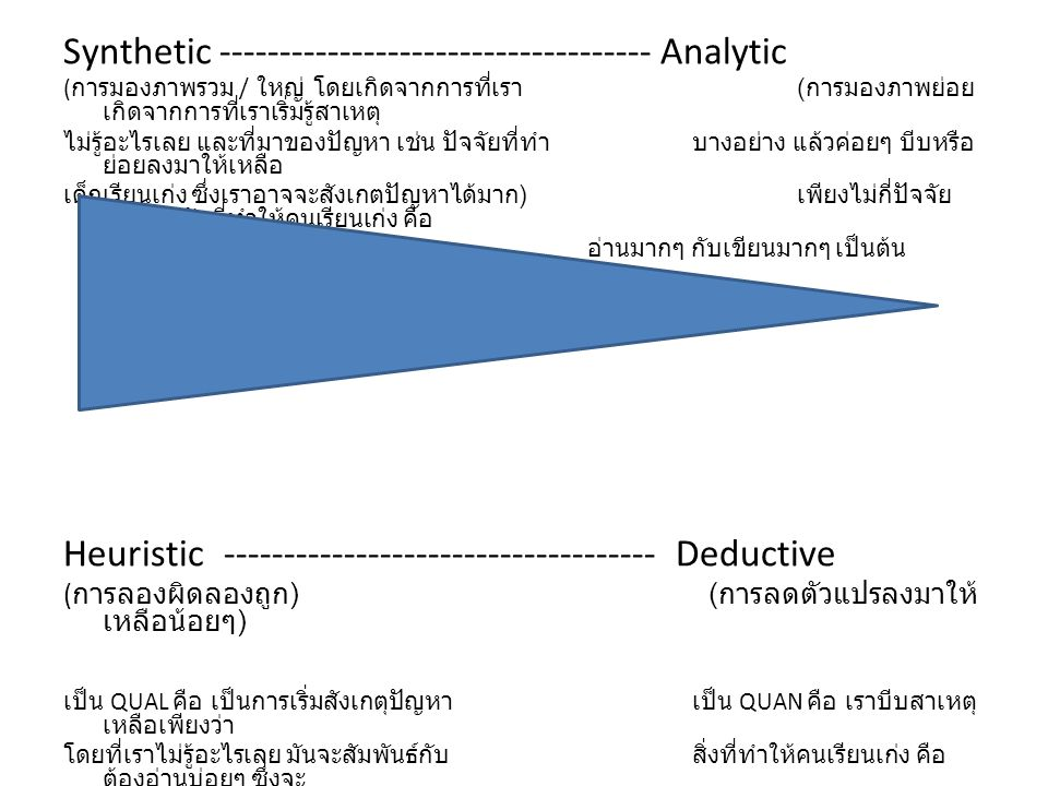 Synthetic ------------------------------------ Analytic