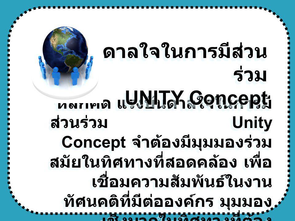 แรงบันดาลใจในการมีส่วนร่วม UNITY Concept