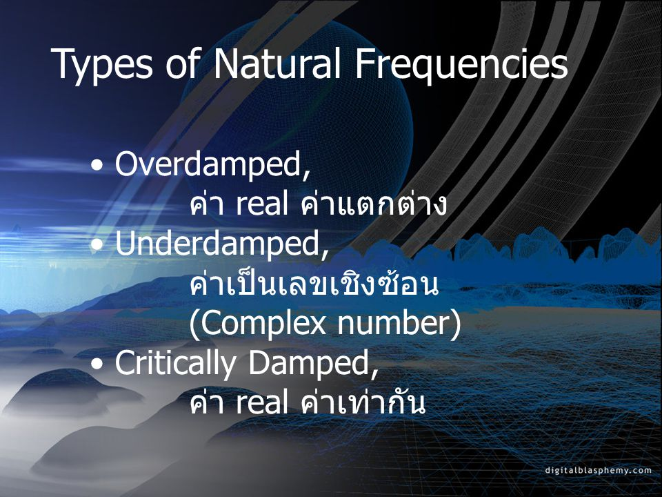 Types of Natural Frequencies