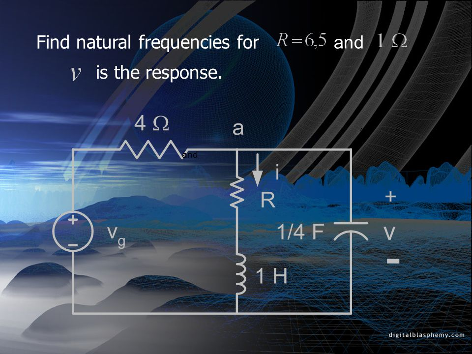 Find natural frequencies for and
