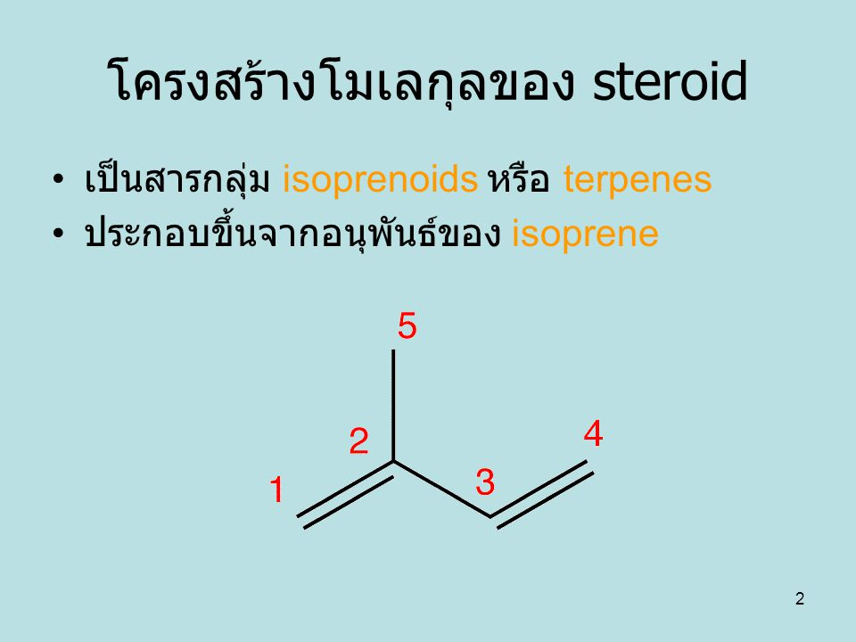 โครงสร้างโมเลกุลของ steroid