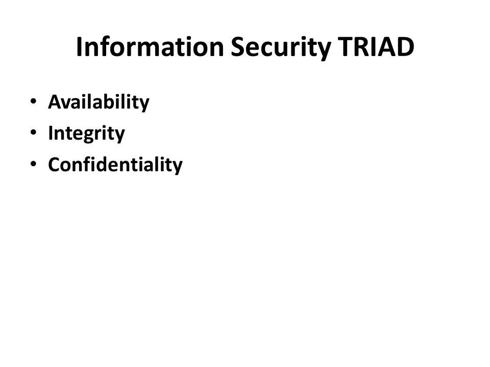 Information Security TRIAD
