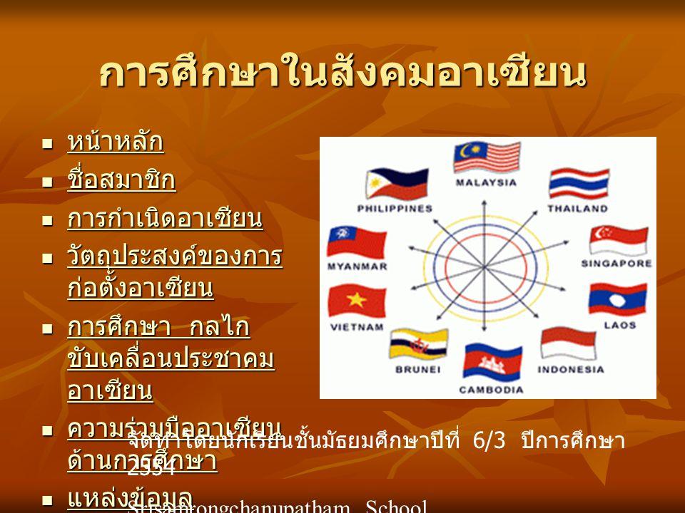 การศึกษาในสังคมอาเซียน