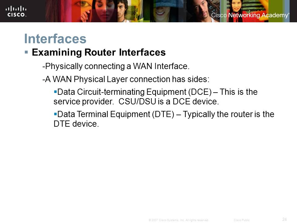 Interfaces Examining Router Interfaces