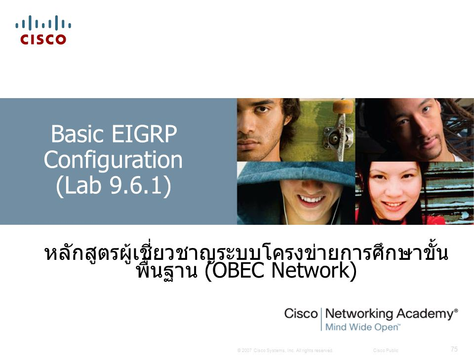 Basic EIGRP Configuration (Lab 9.6.1)