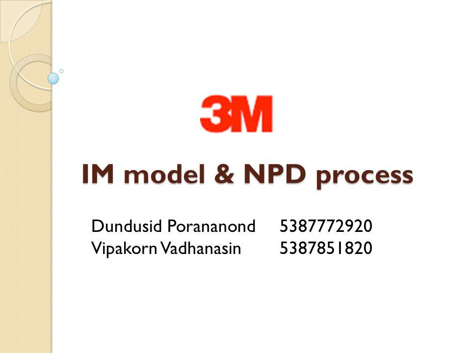 IM model & NPD process Dundusid Porananond 5387772920