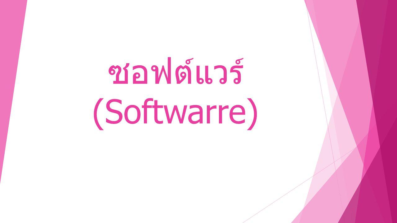 ซอฟต์แวร์ (Softwarre)