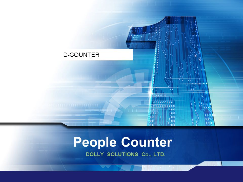 D-COUNTER People Counter DOLLY SOLUTIONS Co., LTD.