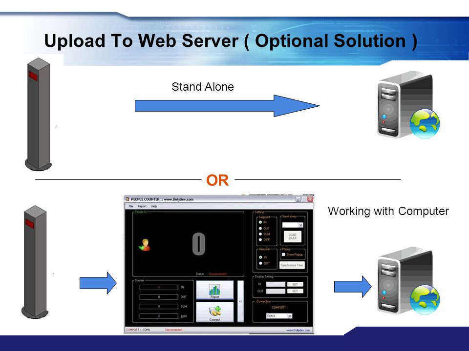 Upload To Web Server ( Optional Solution )