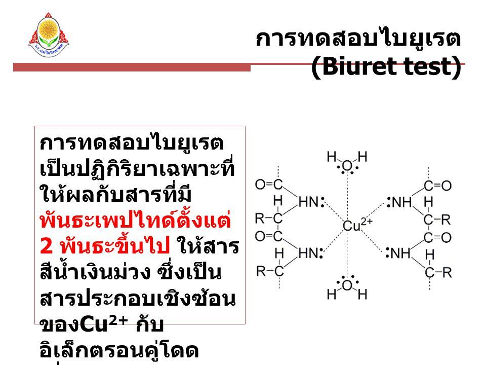 การทดสอบไบยูเรต(Biuret test)