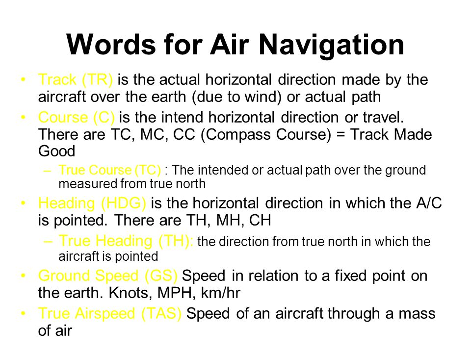 Words for Air Navigation