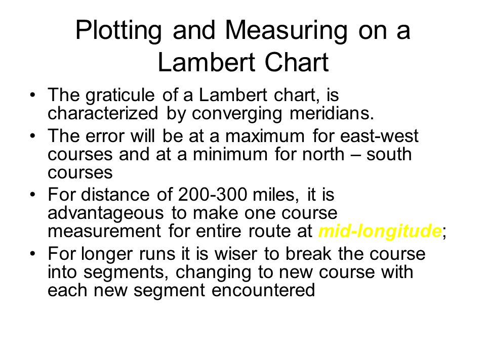 Plotting and Measuring on a Lambert Chart