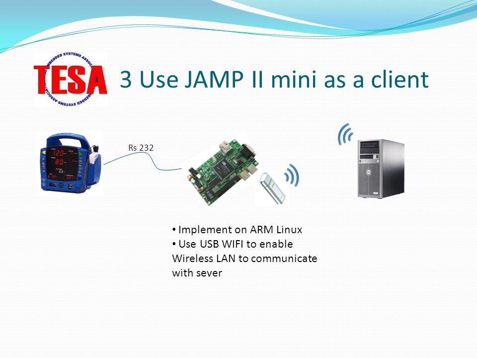 3 Use JAMP II mini as a client