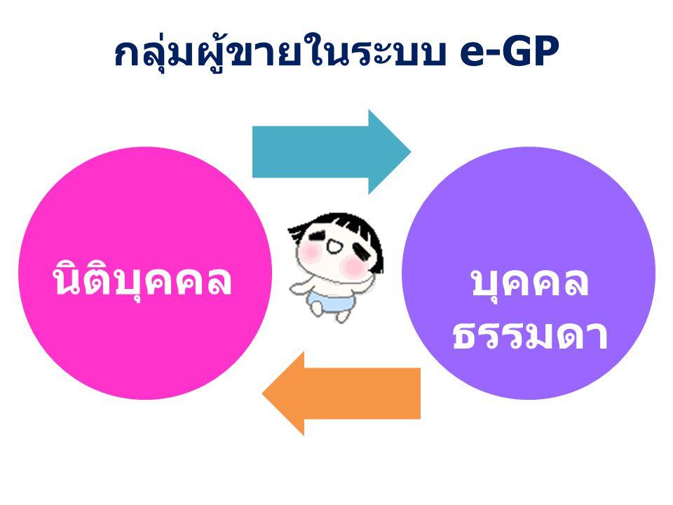กลุ่มผู้ขายในระบบ e-GP