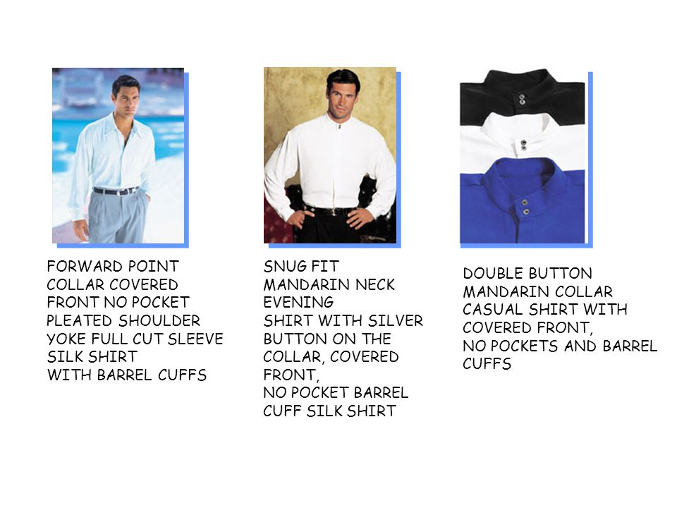FORWARD POINT COLLAR COVERED FRONT NO POCKET PLEATED SHOULDER YOKE FULL CUT SLEEVE SILK SHIRT WITH BARREL CUFFS