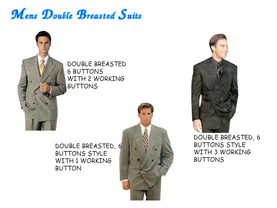 DOUBLE BREASTED 6 BUTTONS WITH 2 WORKING BUTTONS