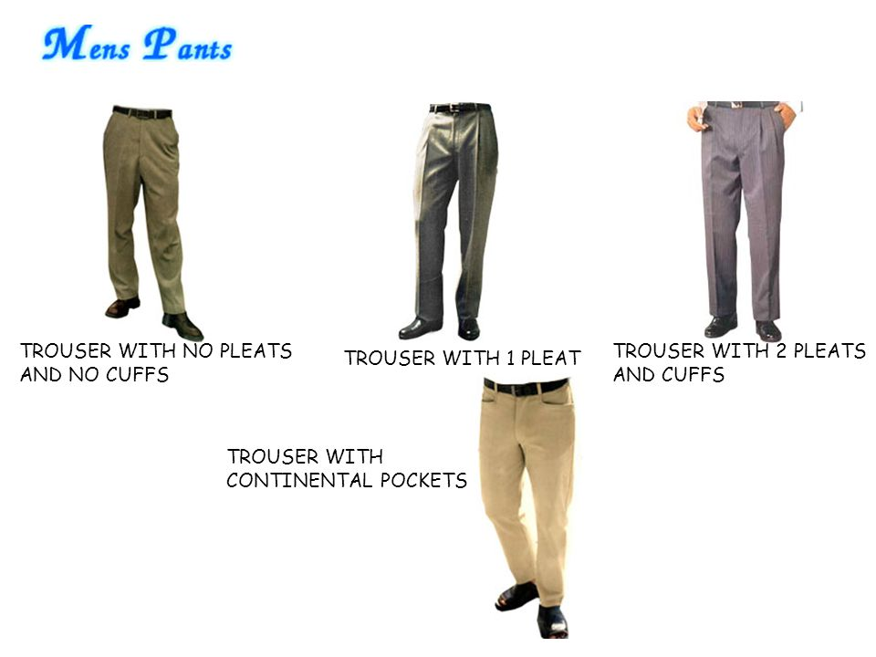 TROUSER WITH NO PLEATS AND NO CUFFS