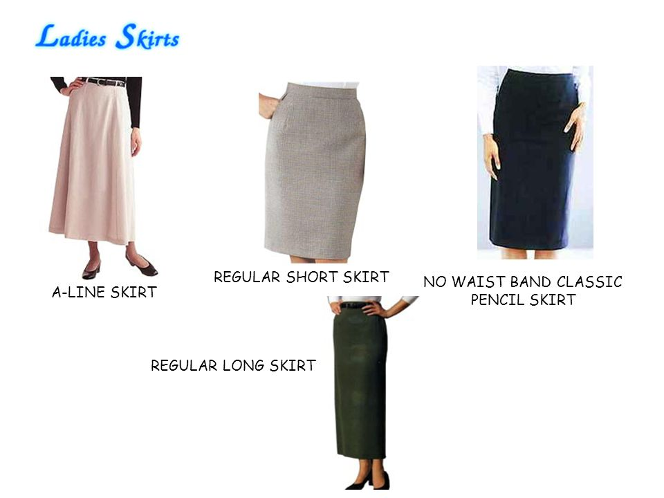 REGULAR SHORT SKIRT NO WAIST BAND CLASSIC PENCIL SKIRT A-LINE SKIRT REGULAR LONG SKIRT