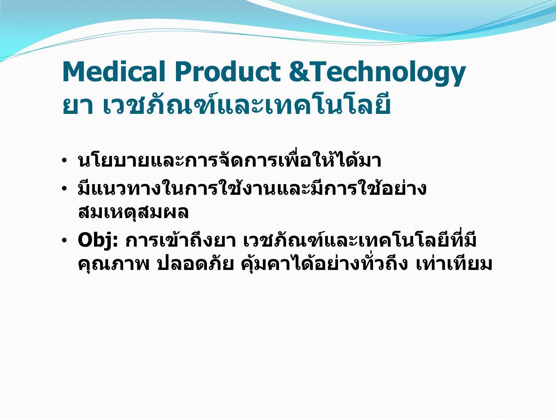 Medical Product &Technology ยา เวชภัณฑ์และเทคโนโลยี