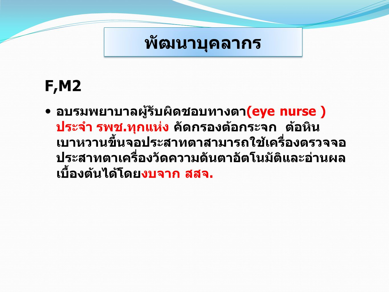 พัฒนาบุคลากร F,M2.