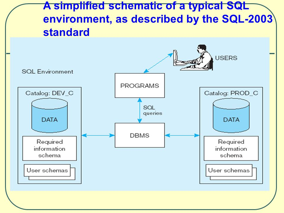 A simplified schematic of a typical SQL