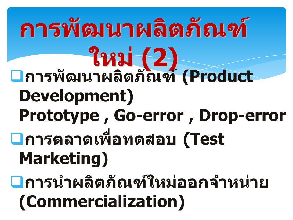 การพัฒนาผลิตภัณฑ์ใหม่ (2)