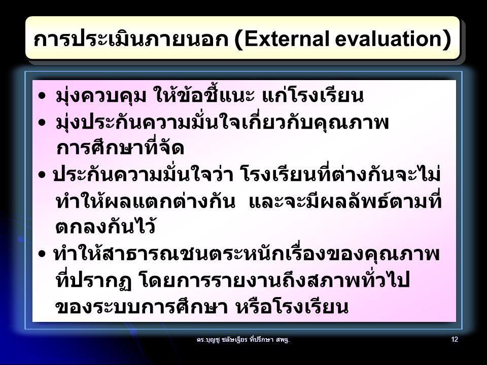 การประเมินภายนอก (External evaluation)