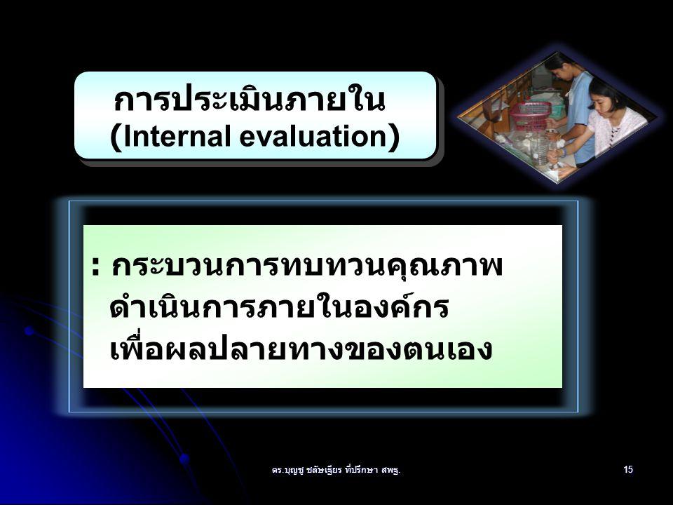 การประเมินภายใน (Internal evaluation)