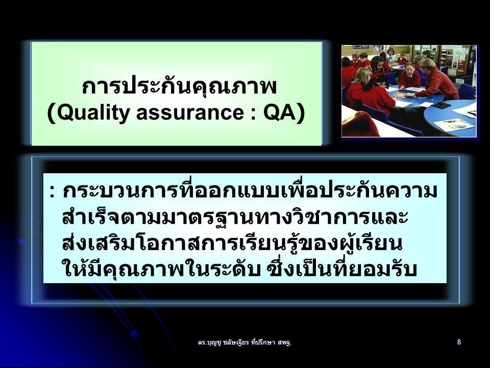 การประกันคุณภาพ (Quality assurance : QA)