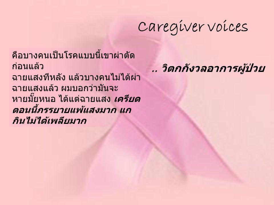 Caregiver voices .. วิตกกังวลอาการผู้ป่วย