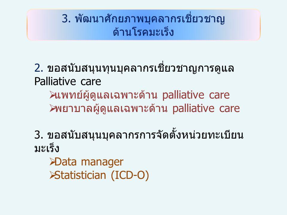 3. พัฒนาศักยภาพบุคลากรเชี่ยวชาญ