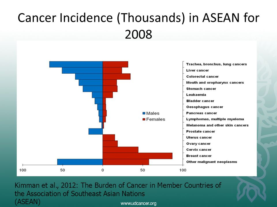 Cancer Incidence (Thousands) in ASEAN for 2008