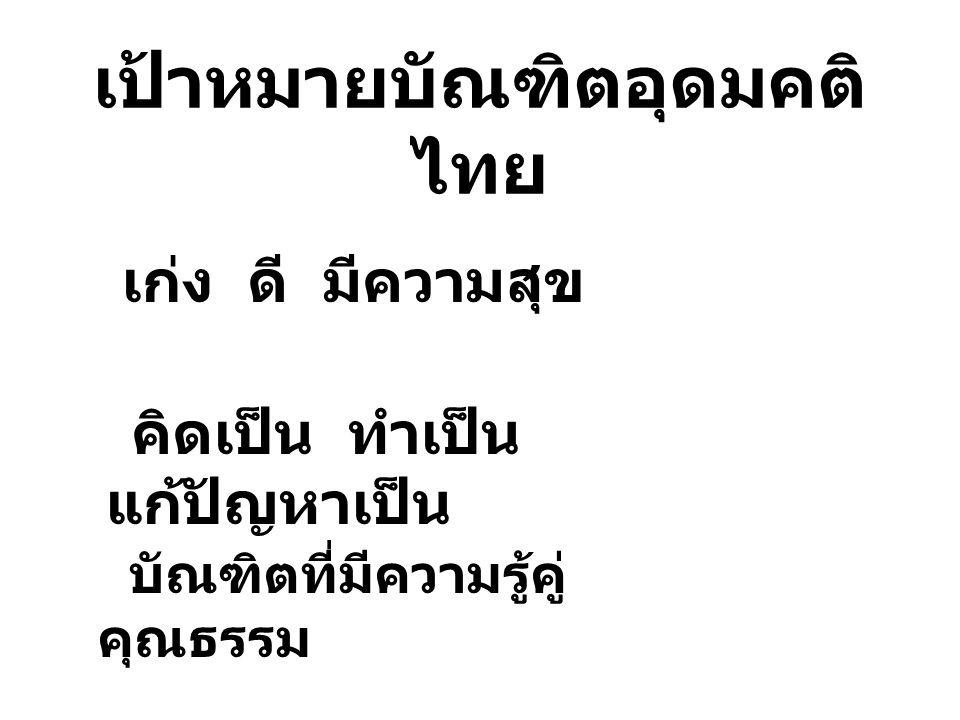 เป้าหมายบัณฑิตอุดมคติไทย