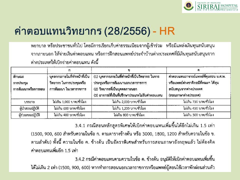 ค่าตอบแทนวิทยากร (28/2556) - HR