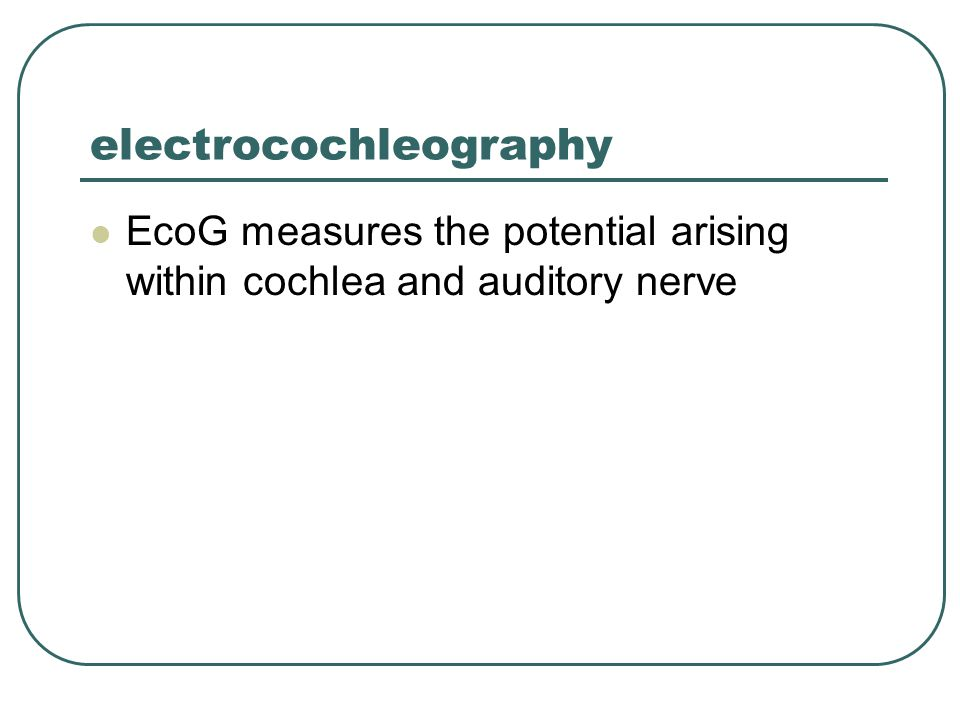 electrocochleography