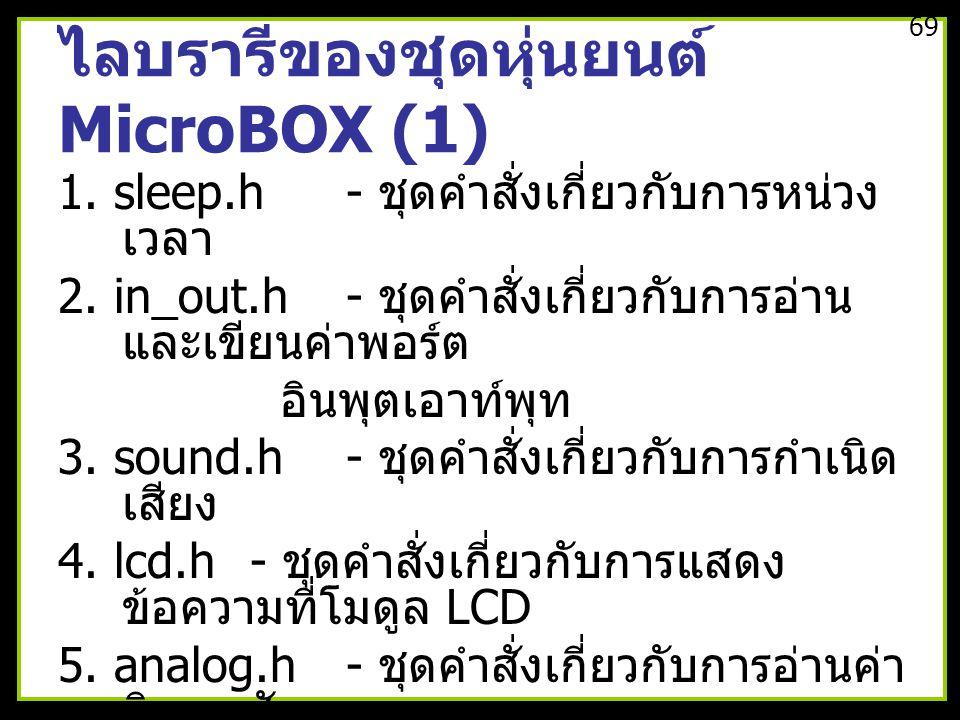 ไลบรารีของชุดหุ่นยนต์ MicroBOX (1)