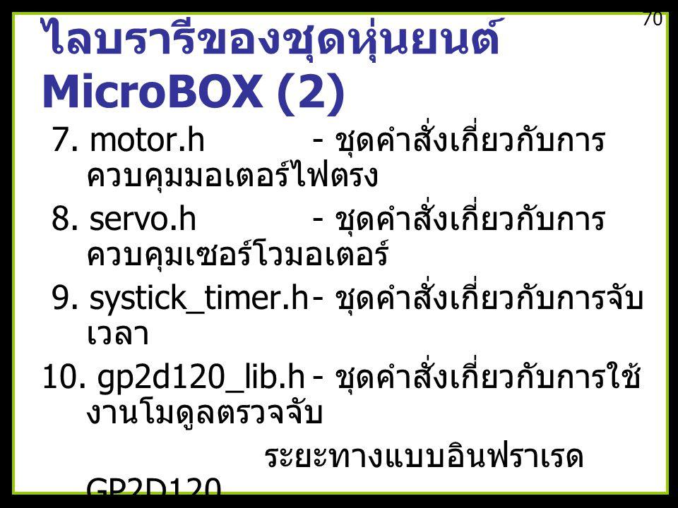 ไลบรารีของชุดหุ่นยนต์ MicroBOX (2)