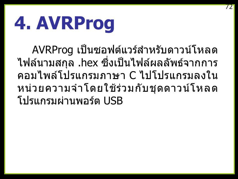 72 4. AVRProg.