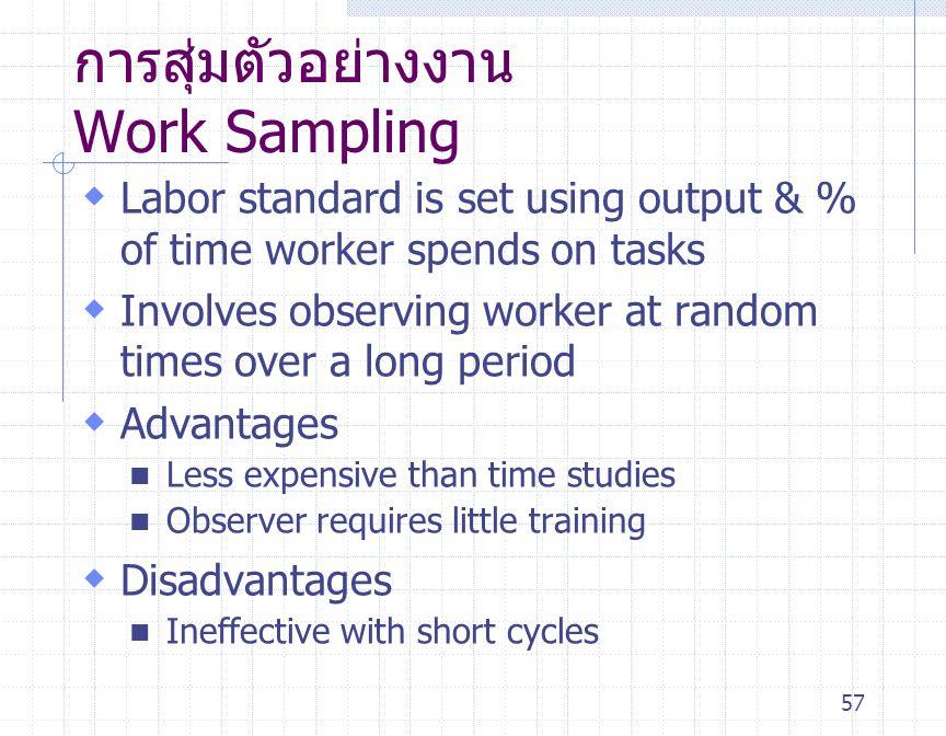 การสุ่มตัวอย่างงาน Work Sampling